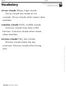 Vocabulary - Clouds