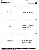 Vocabulary - What Sticks To A Magnet