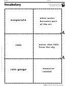 Vocabulary - Water And Weather