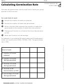 Calculating Germination Rate Terrarium Habitats Activity Sheet