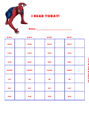 I Read Today! (spiderman) - Behavior Chart