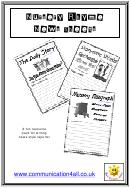 Nursery Rhyme News Sheets Worksheet