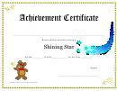 Shining Star Award Certificate