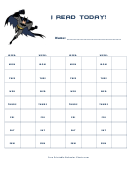 I Read Today! (batman) - Behavior Chart
