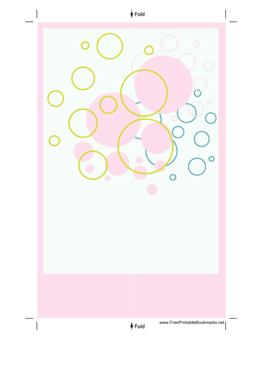 Circles Bookmark Template