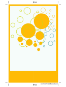 Yellow Bubbles Bookmark Template
