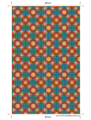 Patterns Bookmark Template
