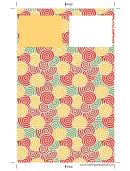 Spirals Bookmark Template