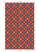 Patterns On Brown Bookmark Template