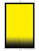 Yellow Bookmark Template