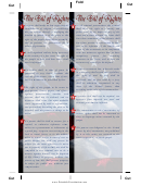 Bill Of Rights Bookmark Template