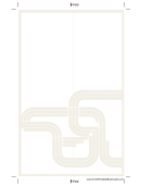 Lines Design Bookmark Template