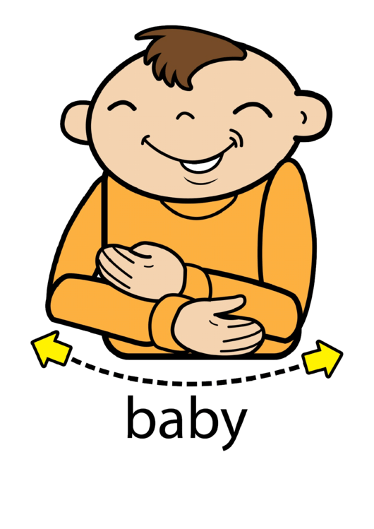 Baby Sign (Sign Language Words) Printable pdf