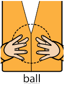 Ball Sign (sign Language Words)