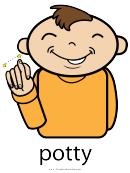 Potty Sign Language Chart