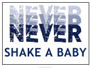 Never Shake A Baby