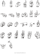 Sign Language Alphabet Chart