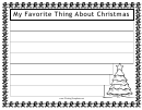 My Favorite Thing About Christmas Writing Template