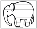 Elephant Writing Template