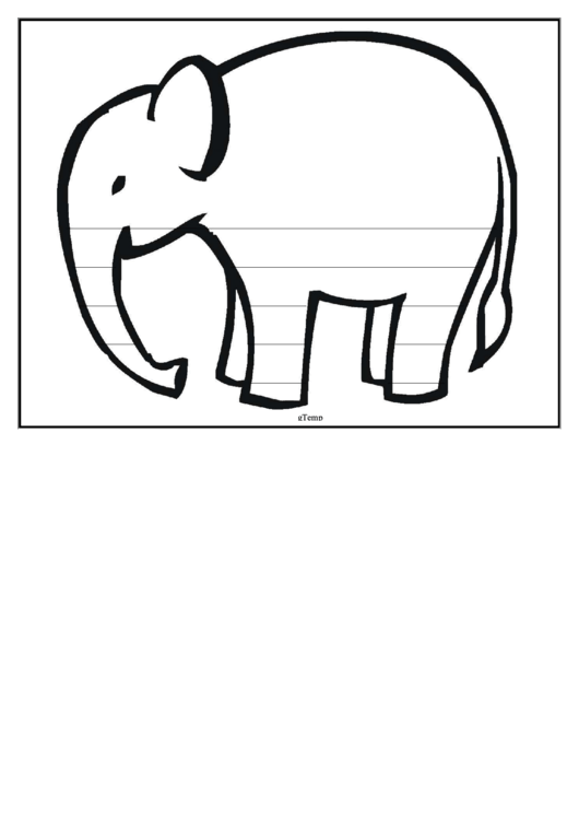 Elephant Writing Template Printable pdf