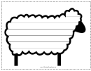 Sheep Writing Template First Grade