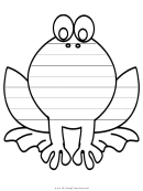 Frog Writing Template First Grade