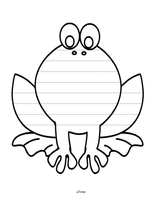 Frog Writing Template First Grade Printable pdf