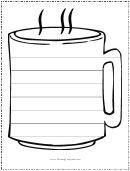 Coffee Cup Writing Template First Grade