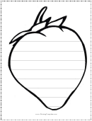 Pear Writing Template First Grade