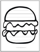 Burger Writing Template First Grade