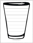 Cup Writing Template First Grade