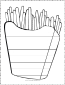 Fries Writing Template First Grade