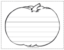 Pumpkin Writing Template First Grade