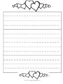 Hearts Writing Template First Grade