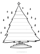 Christmas Tree Writing Template