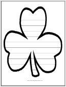 Clover Writing Template First Grade