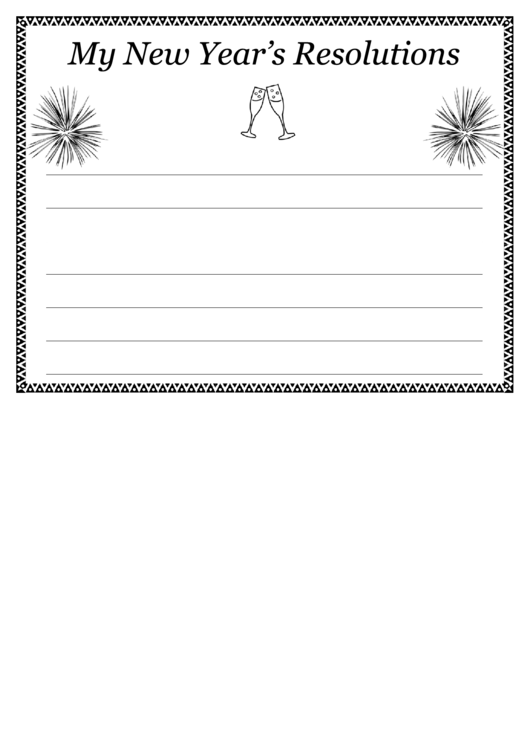 glasses of champagne new years resolutions template