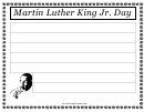 Martin Luther King Jr Day Writing Template First Grade