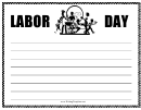 Labor Day Writing Template First Grade