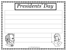 Presidents Day Writing Template First Grade