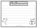 Halloween Writing Template First Grade