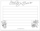 July 4 Writing Template First Grade