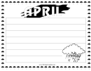 April Writing Template First Grade