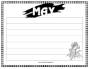May Writing Template First Grade
