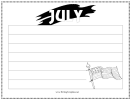 July Writing Template First Grade