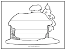 Winter Writing Template First Grade