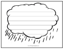 Cloud Writing Template First Grade