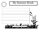 My Summer Break Writing Template First Grade