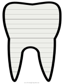 Tooth Writing Template First Grade