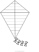 Kite Writing Template First Grade